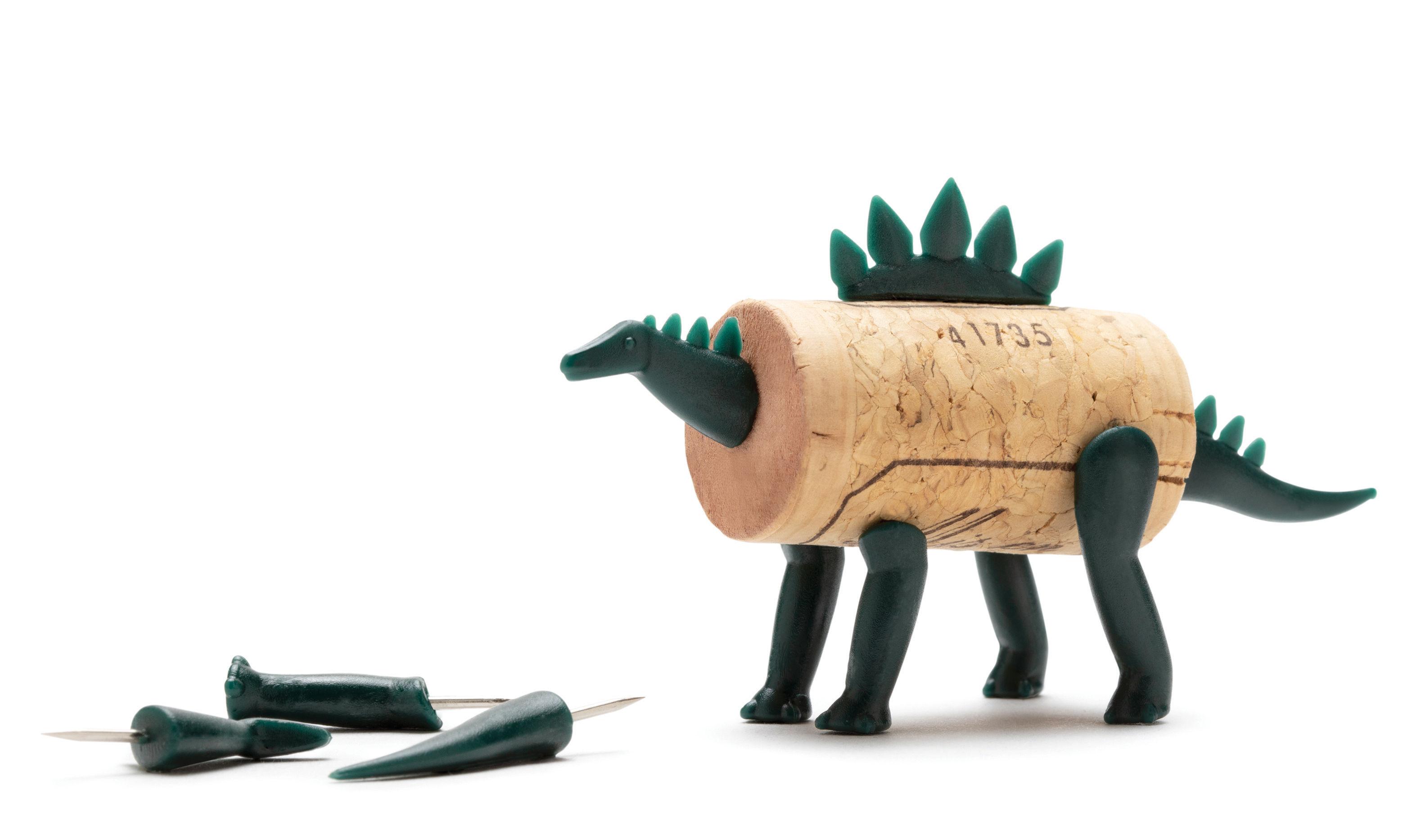 Déco - Pour les enfants - Décoration Corkers Dinosaures / Pour bouchon en liège - Pa Design - Spike  / Vert foncé - Polycarbonate