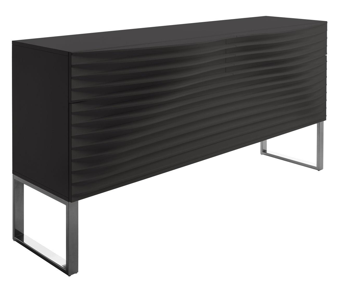 Furniture - Dressers & Storage Units - Tide Dresser - 2 drawers by Horm - Black - Lacquered wood, Varnished metal