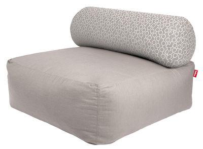 Furniture - Armchairs - Tsjonge Easy chair by Fatboy - Light grey / Cushion with white circles - Fabric, Foam, PVC