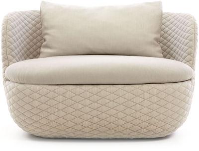 Möbel - Lounge Sessel - Bart Gepolsterter Sessel - L 95 cm - Moooi - Leinen - Gewebe, Holz, Schaumstoff
