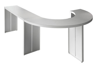 Furniture - High Tables - Panco High table - H 110 cm by Lapalma - White - L 290 cm / Quadrant - Lacquered metal, Plywood