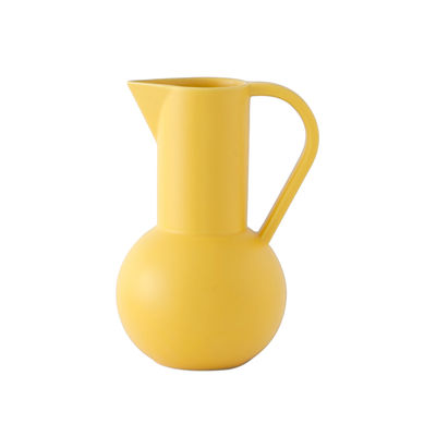 Tischkultur - Karaffen - Strøm Medium Karaffe / H 24 cm - Céramique / Fait main - raawii - Jaune Freesia - Keramik