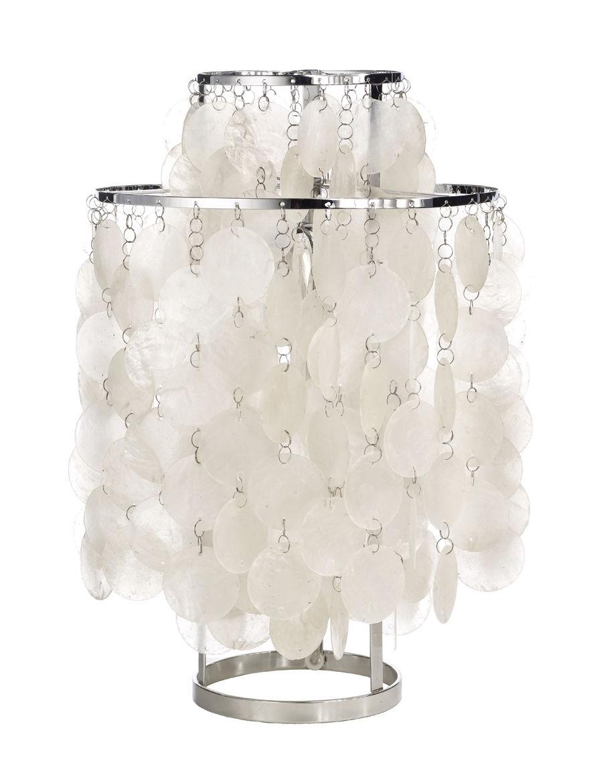 Illuminazione - Lampade da tavolo - Lampada da tavolo Fun 2TM - Ø 27 cm - Panton 1964 di Verpan - Ø 27 cm - Madreperla e acciaio cromato - Madreperla, Metallo