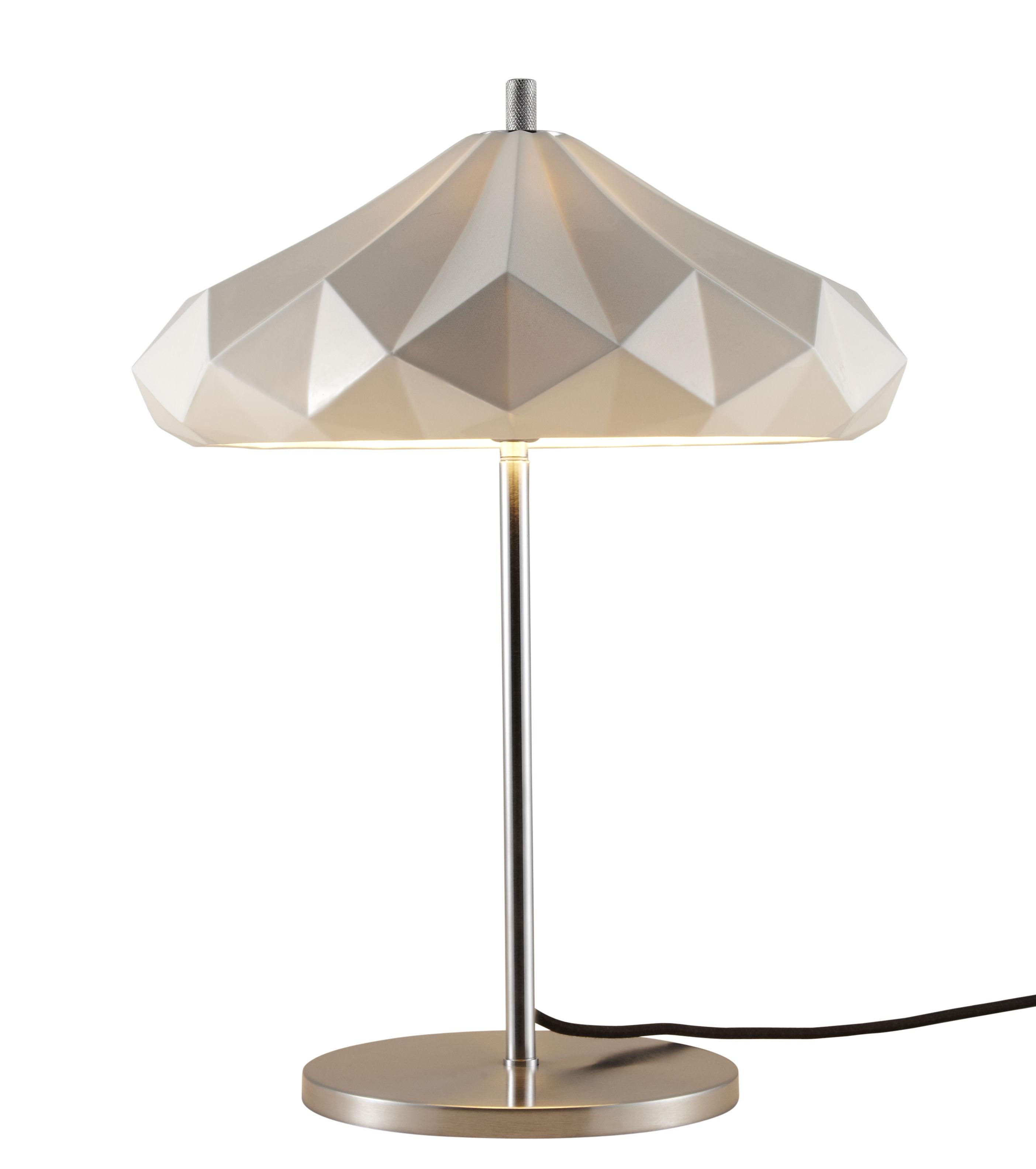 Illuminazione - Lampade da tavolo - Lampada da tavolo Hatton 4 - / H 54 cm - Porcellana di Original BTC - Porcellana bianca / Piede cromato - Metallo cromato, Porcellana