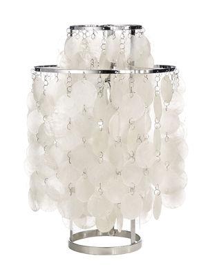 Luminaire - Lampes de table - Lampe de table Fun 2TM / Ø 27 cm - Panton 1964 - Verpan - Nacre & chromé - Métal, Nacre