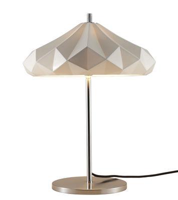 Luminaire - Lampes de table - Lampe de table Hatton 4 / H 54 cm - Porcelaine - Original BTC - Porcelaine blanche / Pied chromé - Métal chromé, Porcelaine