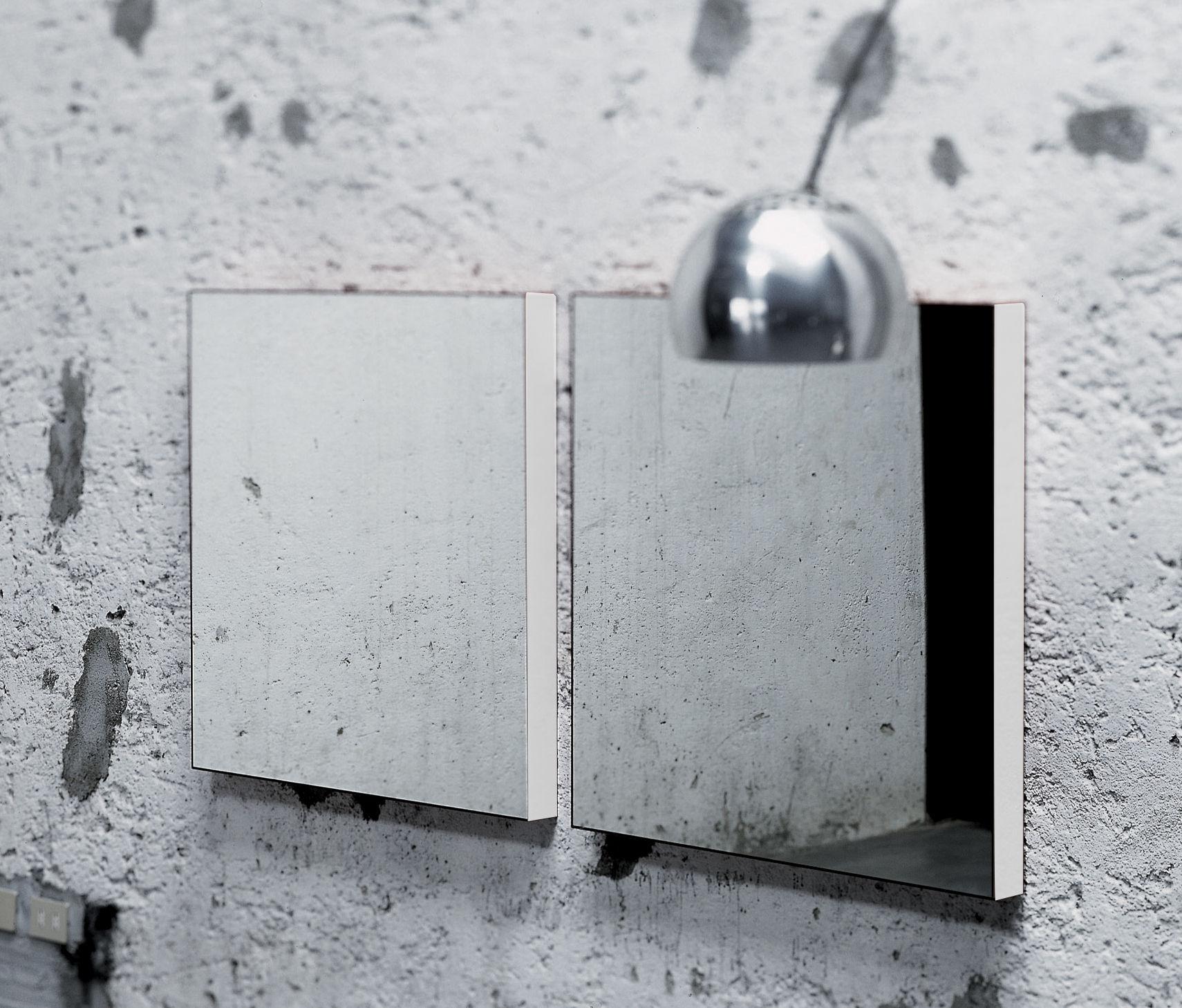 Mobilier - Miroirs - Miroir mural Giano / version murale - 90 x 90 cm - Glas Italia - Laqué blanc - Verre