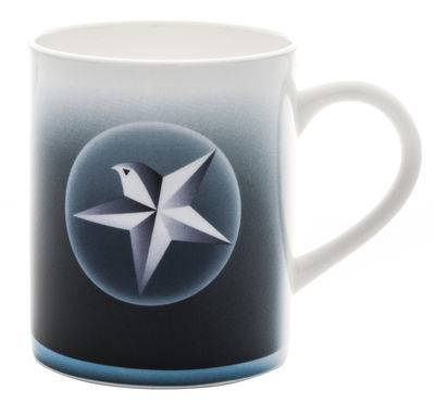 Arts de la table - Tasses et mugs - Mug Blue christmas - A di Alessi - Etoile - Porcelaine
