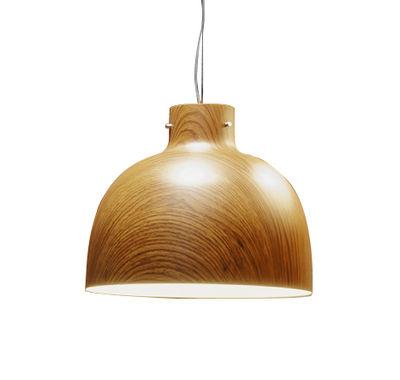 Lighting - Pendant Lighting - Bellissima Wood Pendant - / Ø 50 cm - Wood-effect plastic by Kartell - Wood effect - Thermoplastic technopolymer