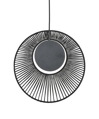 Lighting - Pendant Lighting - Oyster Pendant - / Ø 40 x H 42,5 cm by Forestier - Noir - Cotton, Metal