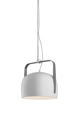 Bag Pendelleuchte / zum Aufhängen oder Hinstellen - Ø 21 cm - Karman - Weiß glänzend,Kohlegrau