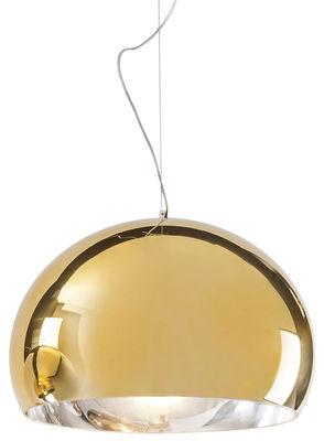 Leuchten - Pendelleuchten - FL/Y Pendelleuchte / Metallic-Oberfläche - Kartell - Goldfarben - PMMA métallisé