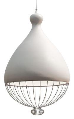 Le Trulle Pendelleuchte / Keramik - Ø 58 cm x H 91 cm - Karman - Weiß