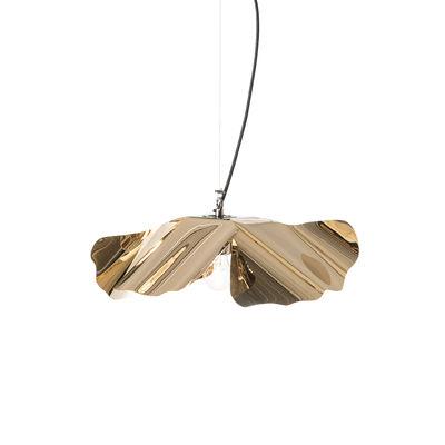 Leuchten - Pendelleuchten - Papavero Small Pendelleuchte / Ø 45 cm - vergoldet, 24 Karat - Opinion Ciatti - 24-karätiges Gold - Gewebe, rostfreier Stahl