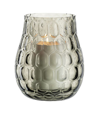 Déco - Vases - Photophore Optic / Verre - Ø 23 x H 27 cm - Leonardo - H 27 cm / Gris Basalte - Verre