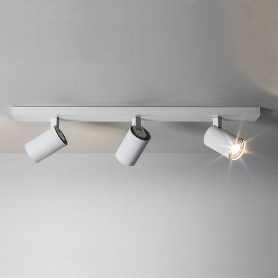 Illuminazione - Plafoniere - Plafoniera Ascoli Triple - / Plafoniera - 3 spot orientabili di Astro Lighting - Bianco opaco - Alluminio