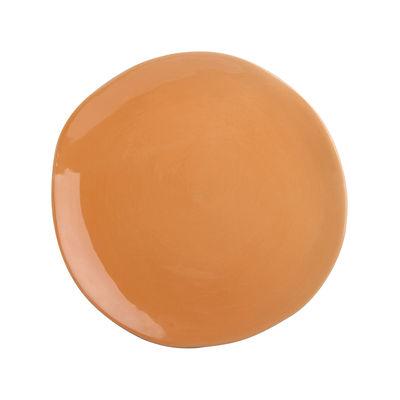 Tableware - Plates - Plate - / Porcelain - Ø 22 cm by & klevering - Orange - China