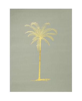 Image of Poster - / Palma di cocco - 30 x 40 cm di Bloomingville - Oro,Verde - Carta