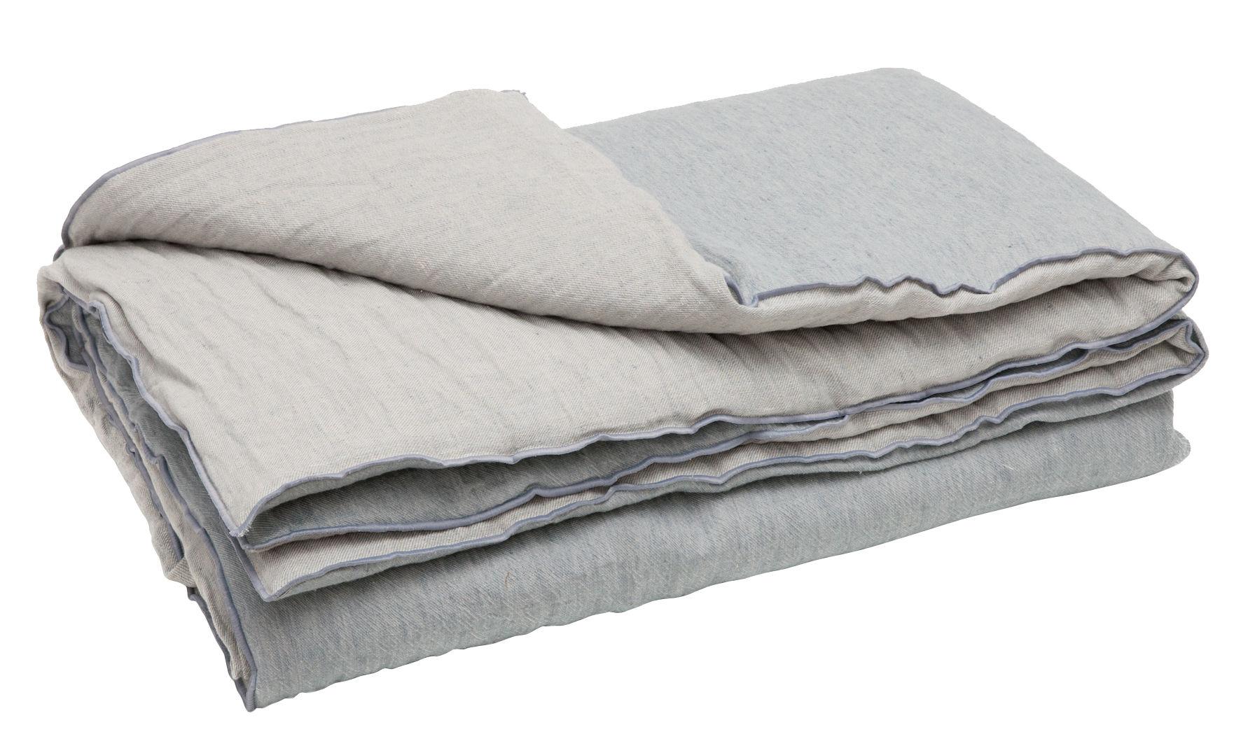 Decoration - Bedding & Bath Towels - Cocoon Vice Versa Quilt - 140 x 200 cm - Linen by Maison de Vacances - Cloud - Flannelette polyester, Flax