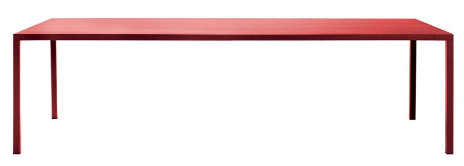 Möbel - Tische - Iltavolo rechteckiger Tisch / 100 x 260 cm - Opinion Ciatti - Rot - bemaltes Metall