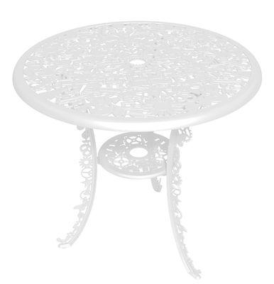 Outdoor - Garden Tables - Industry Garden Round table - Ø 70 cm by Seletti - White - Aluminium