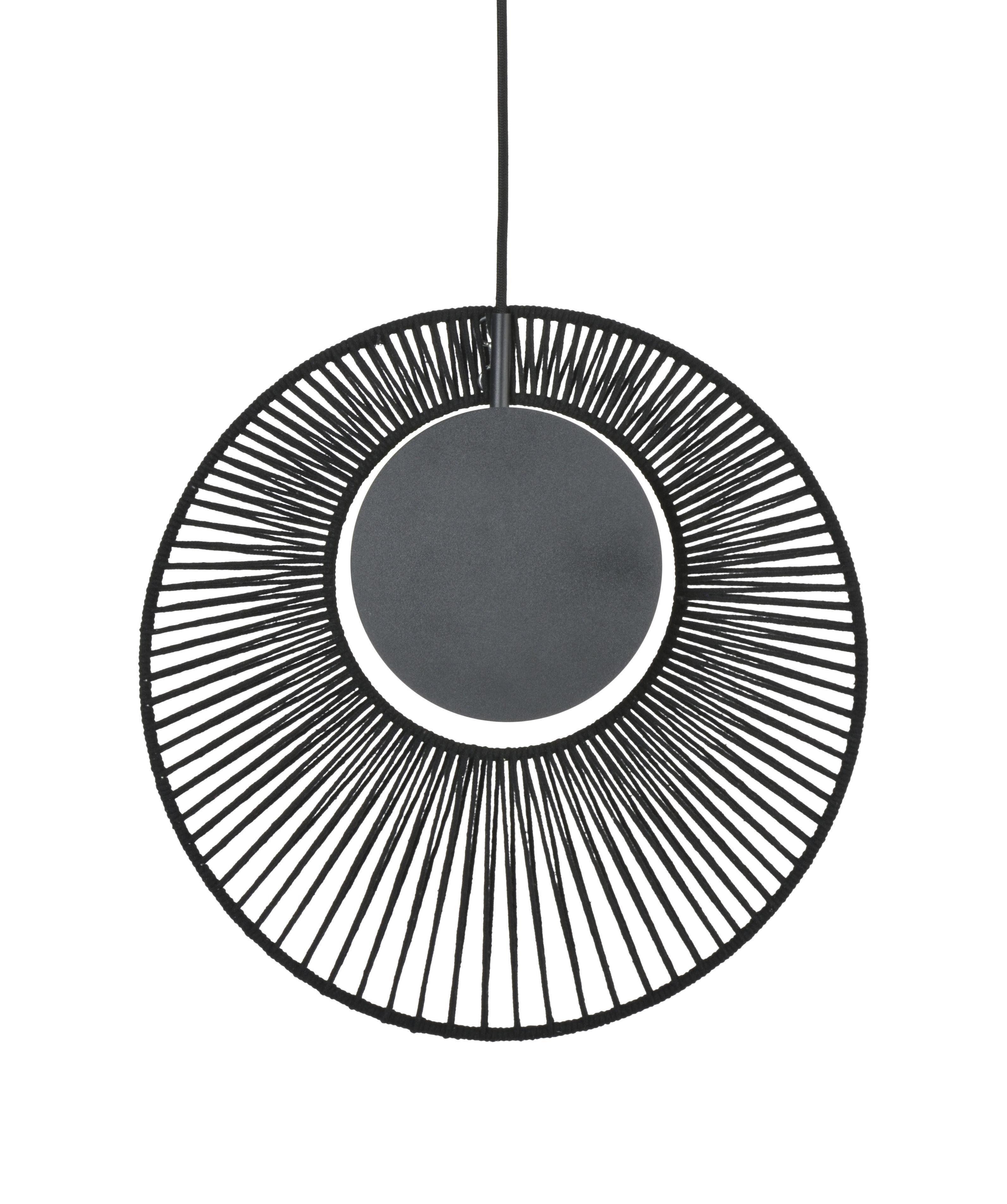 Illuminazione - Lampadari - Sospensione Oyster - / Ø 40 x H 42,5 cm di Forestier - nero - Cotone, Metallo