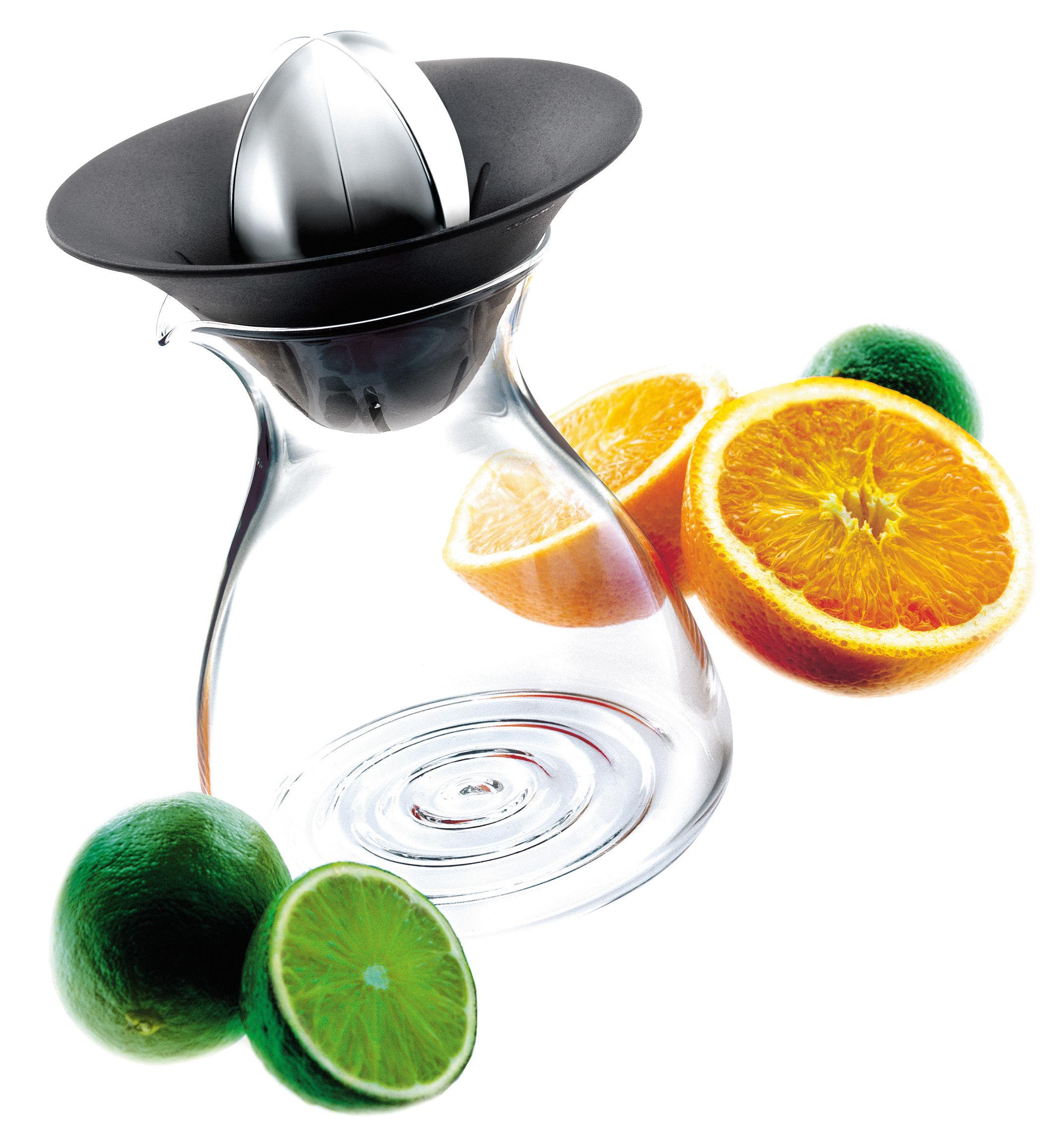 Cucina - Pratici e intelligenti - Spremiagrumi - con caraffa integrata 0,6 L di Eva Solo - Trasparente/Nero/Metallo - ABS, Acciaio inossidabile, Vetro