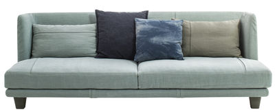 Furniture - Sofas - Gimme More Straight sofa - L 240 - 3 seaters by Diesel with Moroso - Grey light blue - Fabric, Foam, Wood