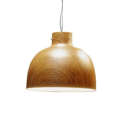 Luminaire - Suspensions - Suspension Bellissima Wood / Ø 50 cm - Plastique effet bois - Kartell - Effet bois - Technopolymère thermoplastique