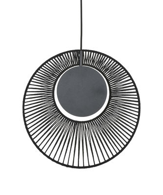 Luminaire - Suspensions - Suspension Oyster / Ø 40 x H 42,5 cm - Forestier - Noir - Coton, Métal