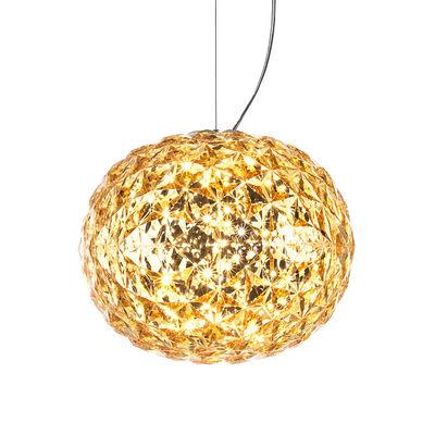 Suspension Planet / LED - Ø 33 cm - Kartell jaune transparent en matière plastique