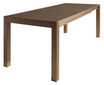 Noël 2011 - Nature et éco-design  - Table à rallonge Astor / L 150 à 210 cm - Horm - Noyer canaletto / Aluminium - Aluminium anodisé, Bois