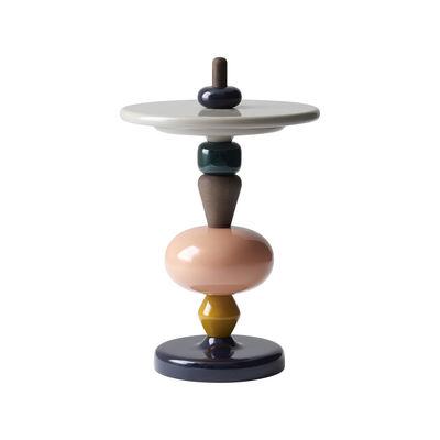 Mobilier - Tables basses - Table d'appoint Shuffle MH1 / Bois - Modulable - Ø 45 x H 69 cm - &tradition - Spectrum / Chêne fumé & bleu - Chêne massif fumé, MDF laqué
