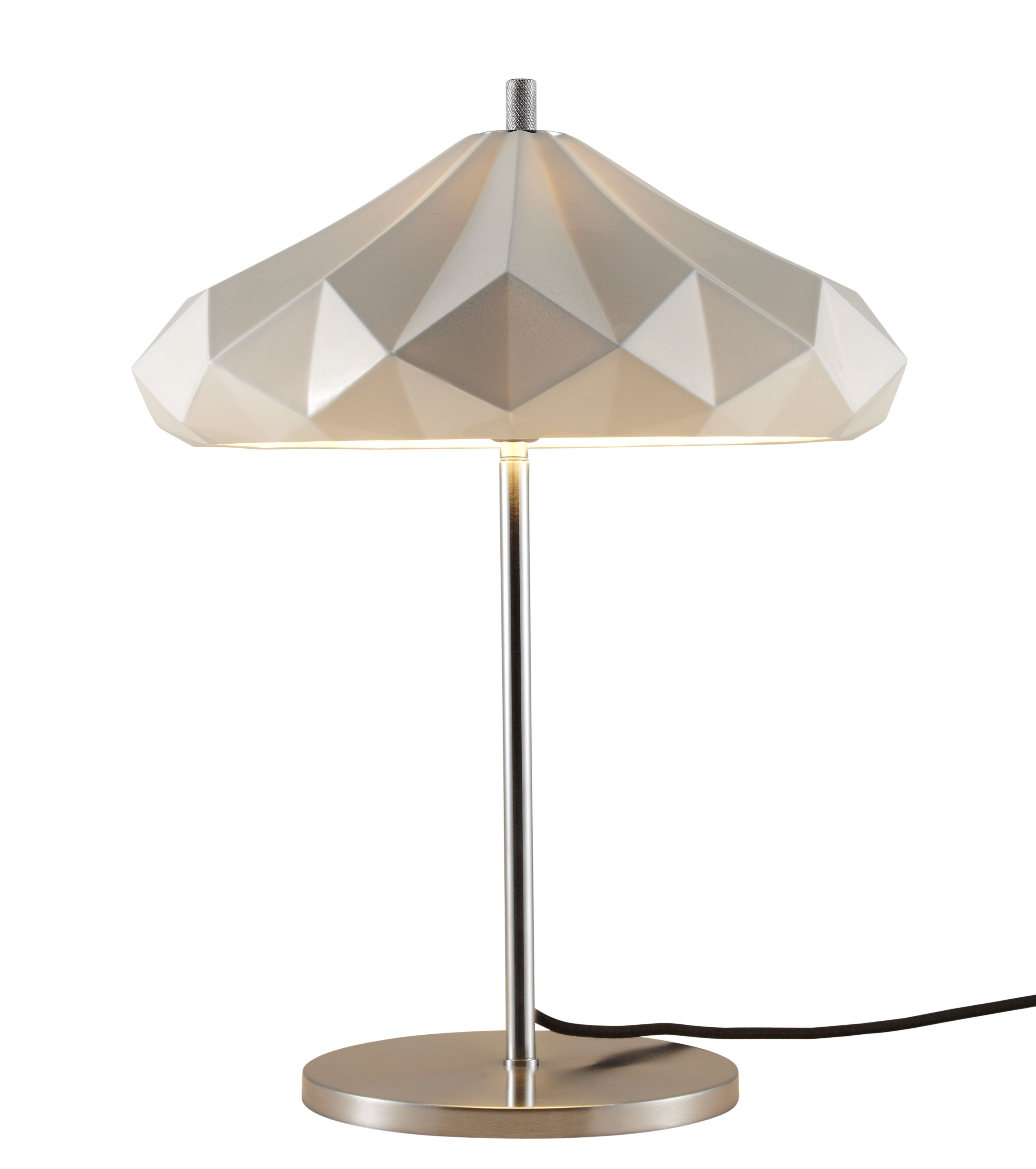 Lighting - Table Lamps - Hatton 4 Table lamp - H 54 cm - Bone China by Original BTC - White / Chromed leg - China, Chromed metal