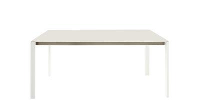 Outdoor - Tables de jardin - Table rectangulaire Dehors / Grès cérame - 180 x 100 cm - Cinna - Blanc - Acier inox laqué, Grès cérame