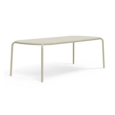 Outdoor - Tables de jardin - Table rectangulaire Toní Tablo / 220 x 99 cm - Trou pour parasol - Fatboy - Table / Sable - Aluminium