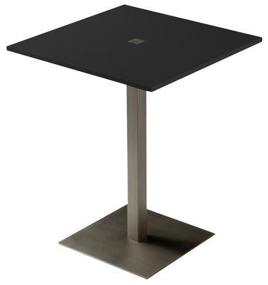 Table Slam / 74 x 74 cm - Zeus noir en métal
