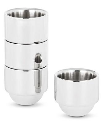 Tasse à espresso Brew Lot de 4 tasses empilables Tom Dixon acier poli en métal