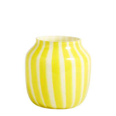 Decoration - Vases - Juice Vase - / Bottom - Ø 22 x H 22 cm by Hay - Yellow - Glass