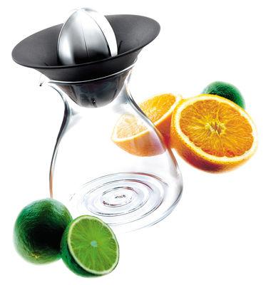 Küche - Einfach praktisch - Zitruspresse mit integrierter Karaffe 0,6 L - Eva Solo - Transparent - schwarz - metall - ABS, Glas, rostfreier Stahl