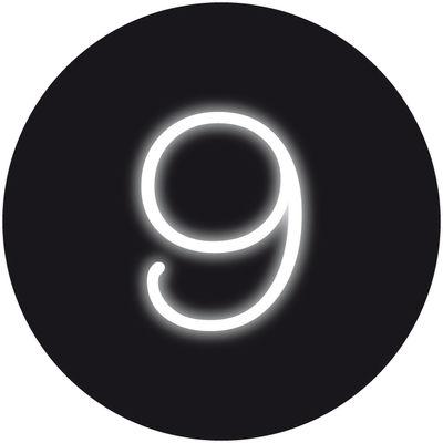 Applique avec prise Neon Art / Chiffre 9 - Seletti blanc en verre