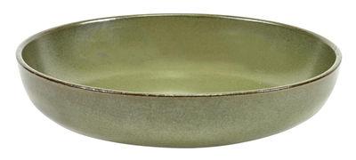 Arts de la table - Assiettes - Assiette creuse Surface / Ø 19 cm - By Sergio Herman - Serax - Vert Camogreen - Céramique émaillée