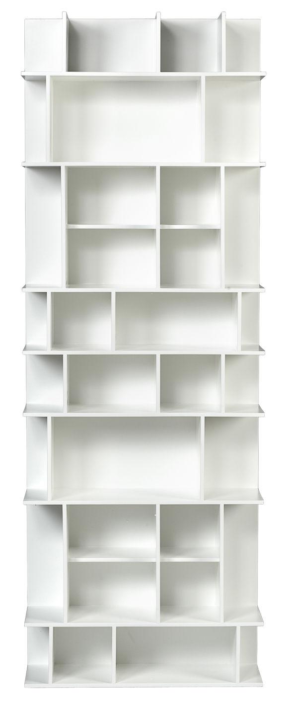 Mobilier - Etagères & bibliothèques - Bibliothèque Scenery High / L 60 x H 168 cm - POP UP HOME - Blanc mat - Aggloméré peint