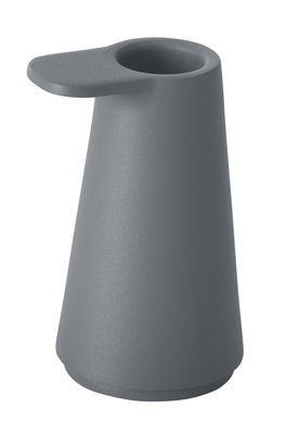 Decoration - Candles & Candle Holders - Grip Candle stick by Muuto - Anthracite - Lacquered aluminium