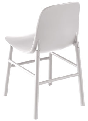 Furniture - Chairs - Sharky Outdoor Chair - Plastic & metal legs by Kristalia - White - Lacquered aluminium, Polyurethane