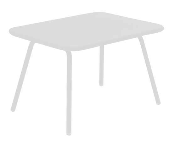 Furniture - Kids Furniture - Luxembourg Kid Children table by Fermob - White - Lacquered steel