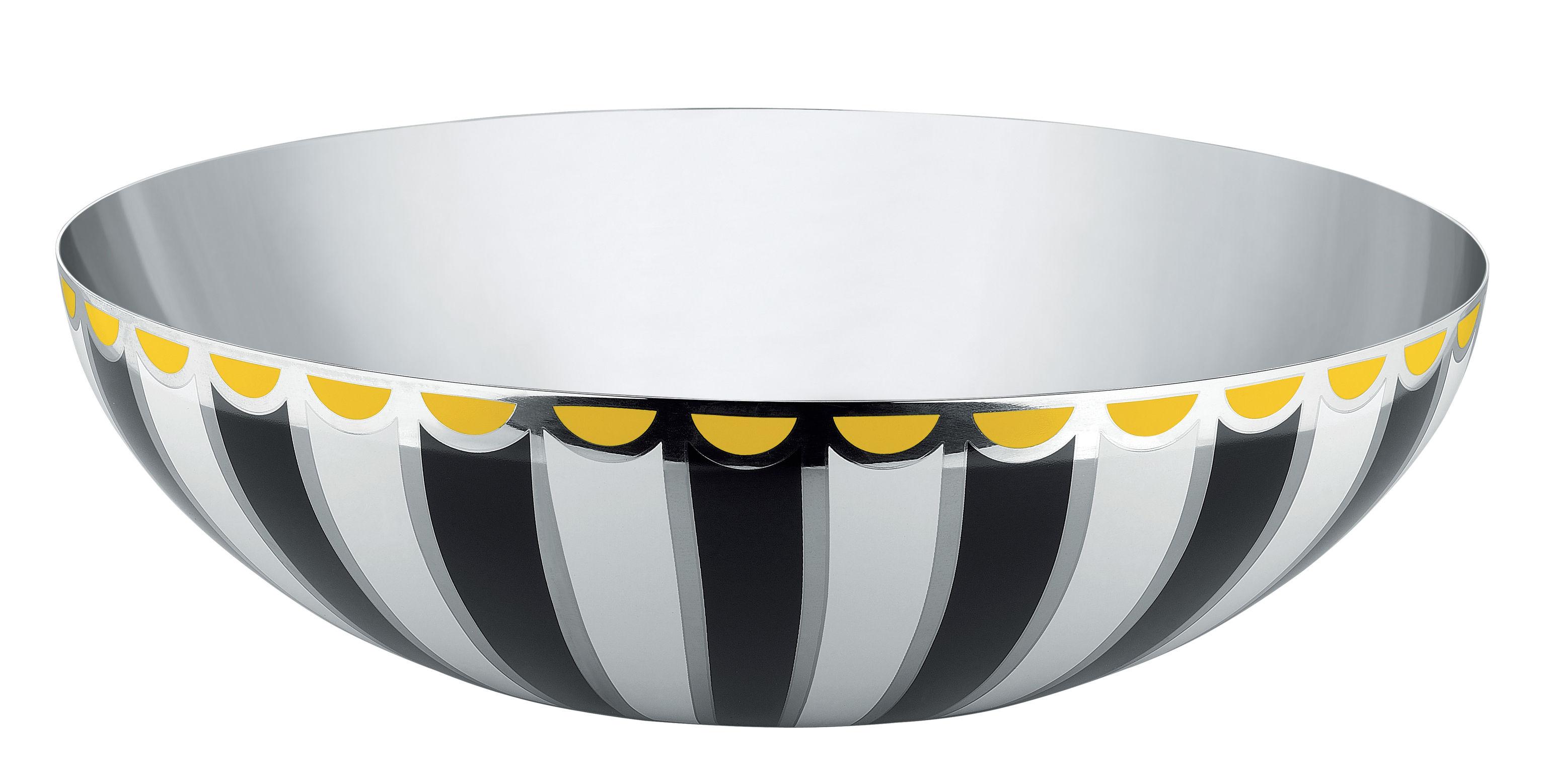 Arts de la table - Saladiers, coupes et bols - Coupe Circus / Ø 32 cm - Métal - Alessi - Ø 32 cm / Noir - Acier inoxydable peint
