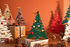 Décoration Bark Tree / Sapin H 30 cm + 3 aimants colorés - Alessi