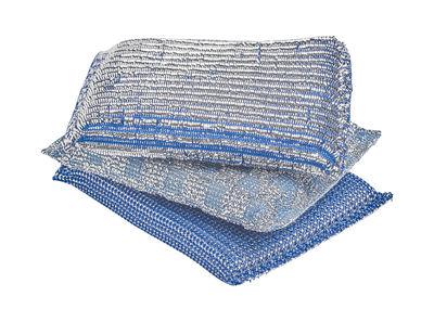 Accessoires - Accessoires salle de bains - Eponge à récurer Glitter / Set de 3 - Hay - Bleu brillant - Mousse polyuréthane