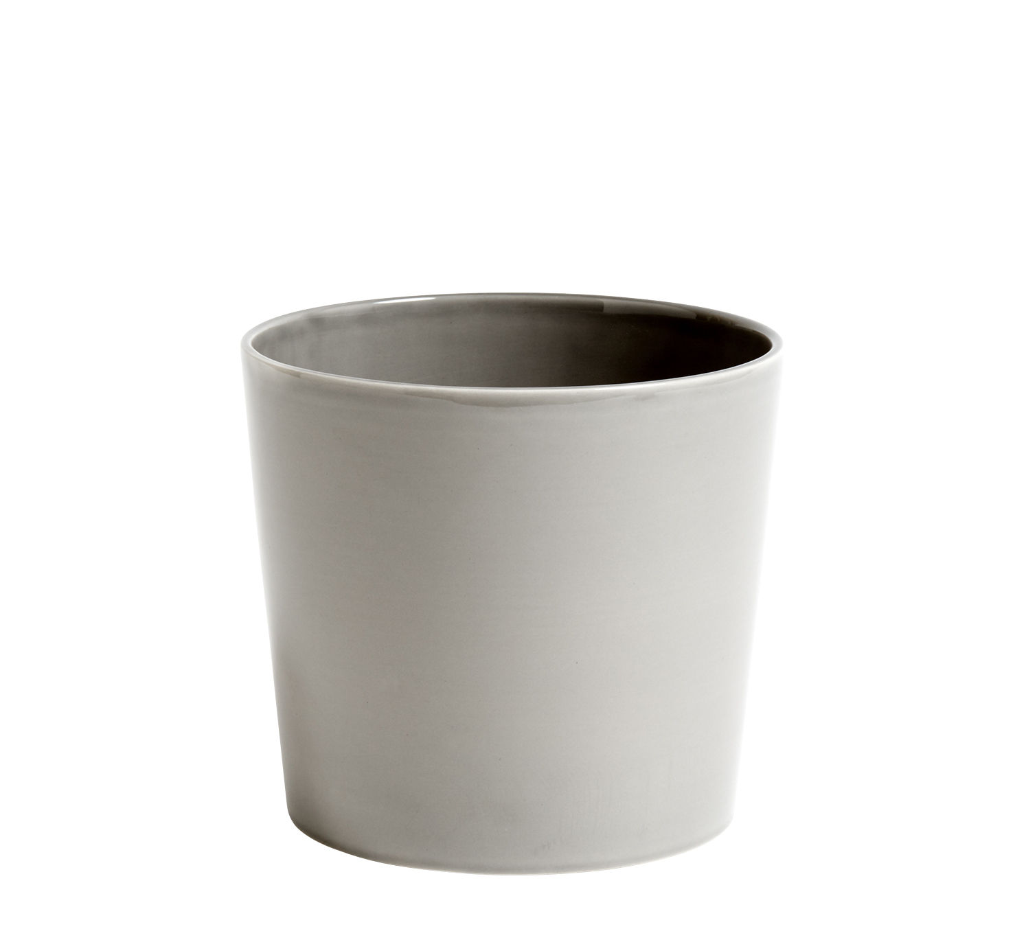 Decoration - Flower Pots & House Plants - Botanical Large Flowerpot - /Ø18 cm - Ceramic by Hay - Pot / Grey - Ceramic